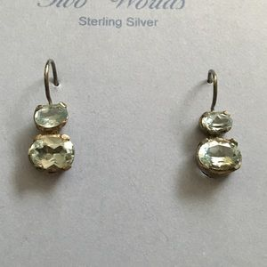 Jewelry - Sterling silver with aqua stones earrings